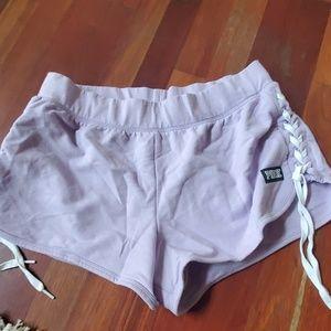 Victoria secret pink lace up shorts